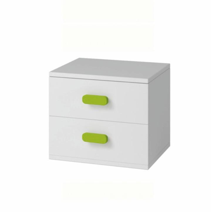 Tempo Kondela Noční stolek SVEND TYP 22 - bílá + kupón KONDELA10 na okamžitou slevu 3% (kupón uplatníte v košíku)
