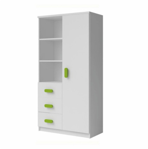 Kombinovaná skříň SVEND 80 3S1D - bílá