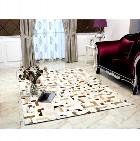 Luxusní koberec KOŽA typ1 140x200 - typ patchworku
