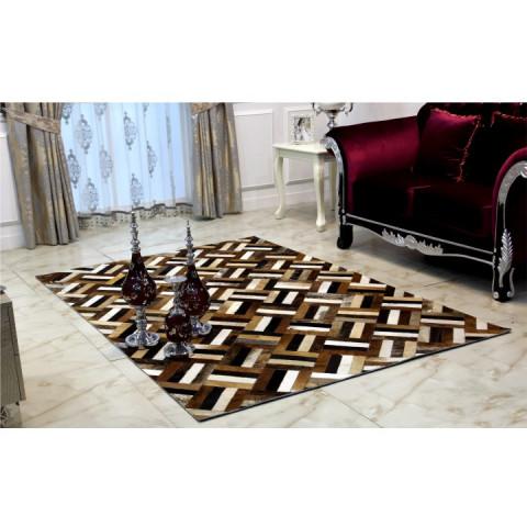 Luxusní koberec KOŽA typ2 170x200 - typ patchworku