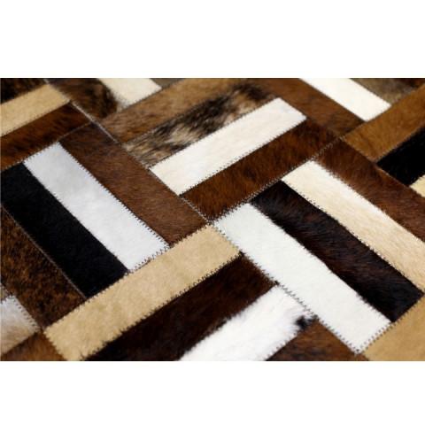 Luxusní koberec, kůže, typ patchworku, 170x200 cm, KOBEREC KOŽA typ2