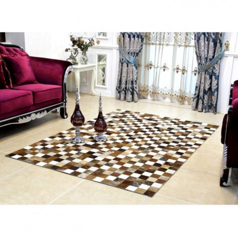 Luxusní koberec KOŽA typ3 120x184 - typ patchworku