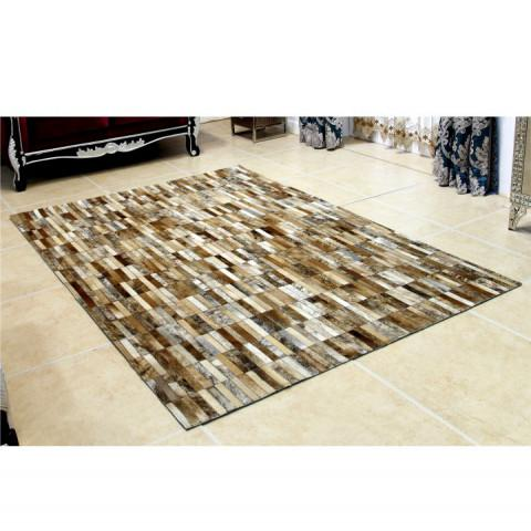 Luxusní koberec KOŽA typ5 141x200 - typ patchworku