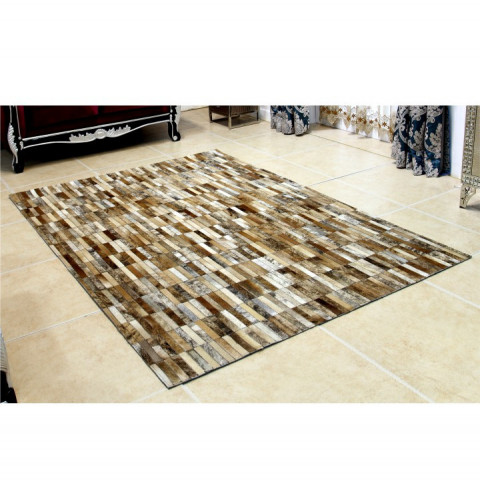 Luxusní koberec KOŽA typ5 69x140 - typ patchworku