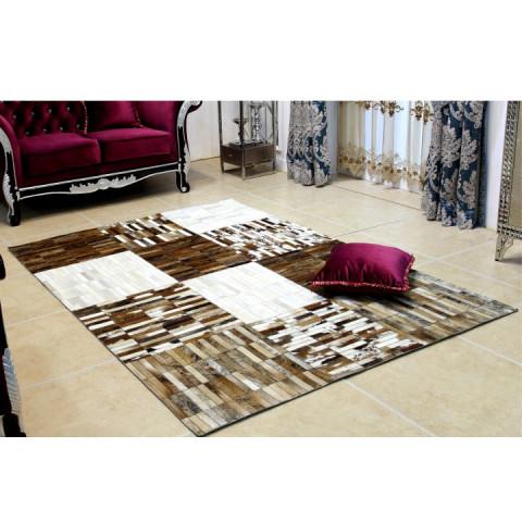 Luxusní koberec KOŽA typ4 141x200 - typ patchworku