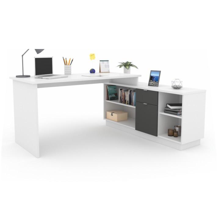 Tempo Kondela Kancelářský stůl DALTON NEW - grafit / bílá + kupón KONDELA10 na okamžitou slevu 3% (kupón uplatníte v košíku)