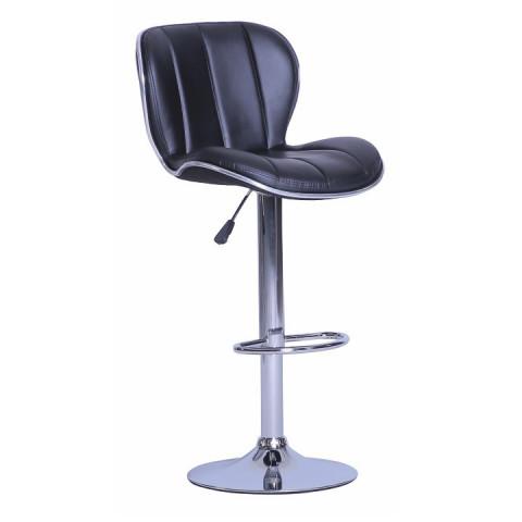 Barová židle DUENA - černá ekokůže
