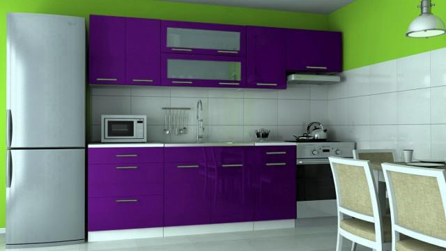 Kuchyňská linka Dakota - fialový lesk