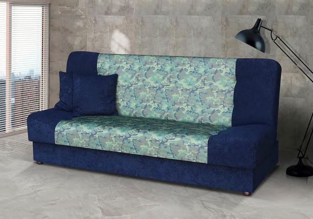 Pohovka Marry - modrá/zelený vzor