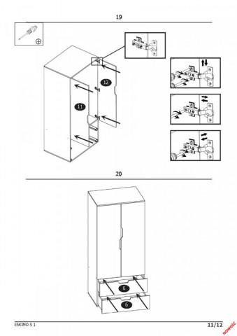 Šatní skříň Eskimo S-1 č.5