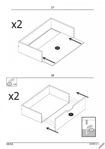 Šatní skříň Eskimo S-1 č.6