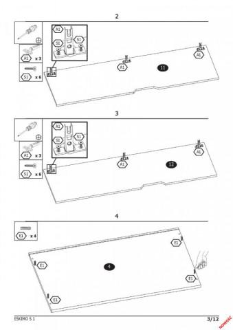 Šatní skříň Eskimo S-1 č.11