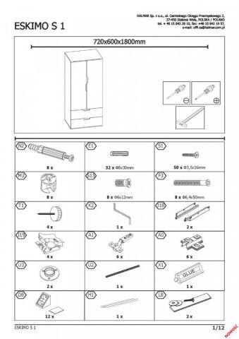 Šatní skříň Eskimo S-1 č.13