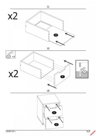 Noční stolek Eskimo SN-1 č.4