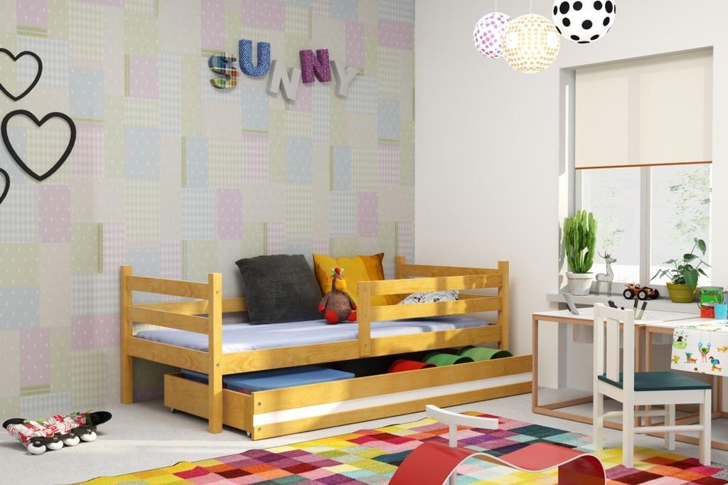 Falco Dětská postel Norbert 90x200 - olše