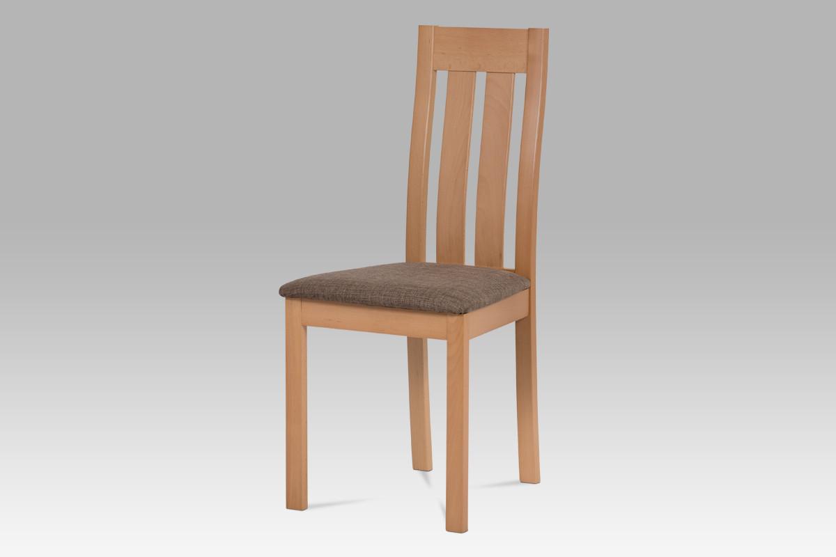 Autronic Jídelní židle BC-2602 BUK3 - Buk, potah hnědý