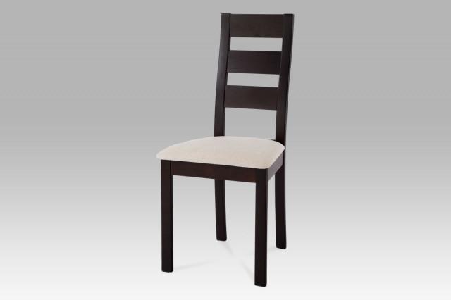 Jídelní židle BC-2603 BK - wenge/potah světlý - II. jakost