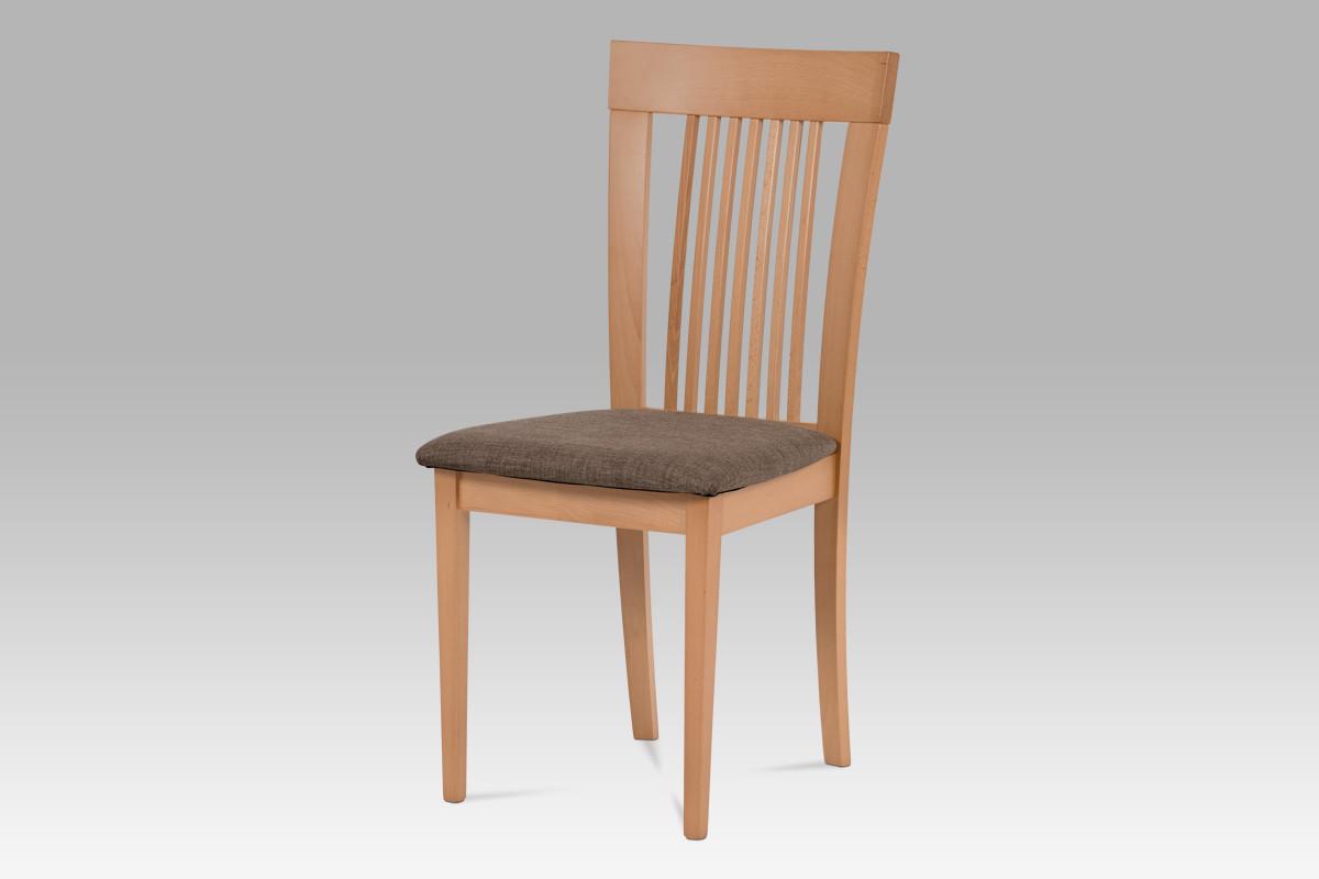 Autronic Jídelní židle BC-3940 BUK3 - Buk, potah hnědý