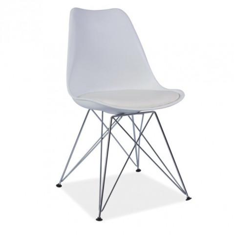 Židle METAL - bílá