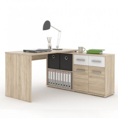 PC stůl RAFAEL NEW - dub sonoma/bílá - II. jakost