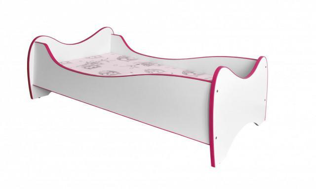 Dětská postel Duo - růžová č.1