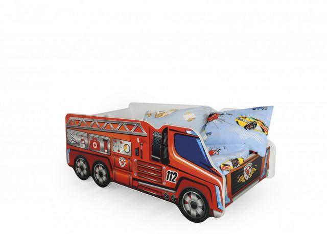 Dětská postel FIRE TRUCK (hasičské auto) č.1