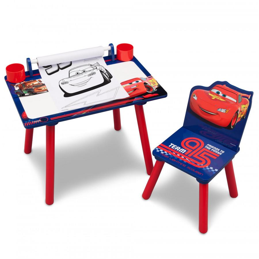 Forclaire Dětský kreslící stůl CARS + židlička