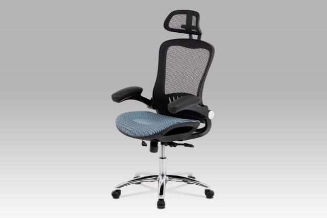 Kancelářská židle KA-A185 BLUE - modrý sedák