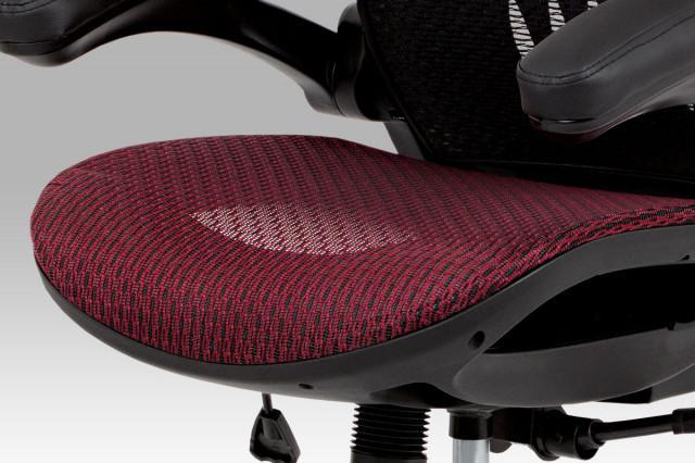 Kancelářská židle KA-A185 RED - červený sedák
