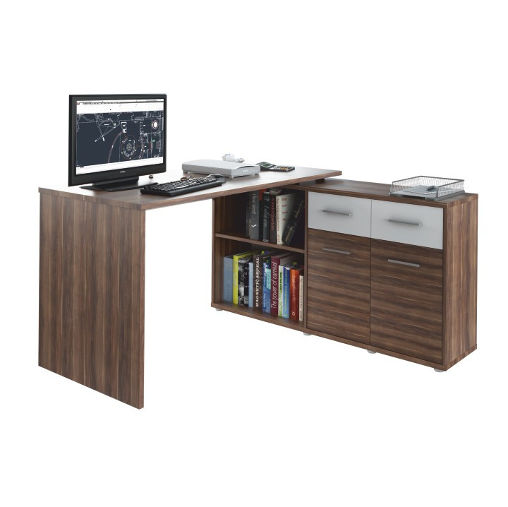 Tempo Kondela PC stůl RAFAEL NEW - švestka /bílá + kupón KONDELA10 na okamžitou slevu 3% (kupón uplatníte v košíku)