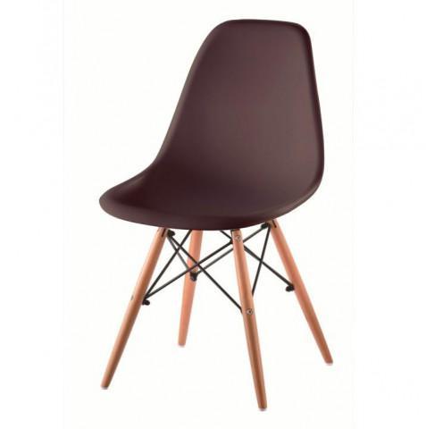 Židle CINKLA 2 NEW - tmavě hnědá + buk