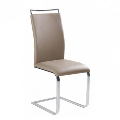Jídelní židle BARNA NEW - světlešedá ekokůže