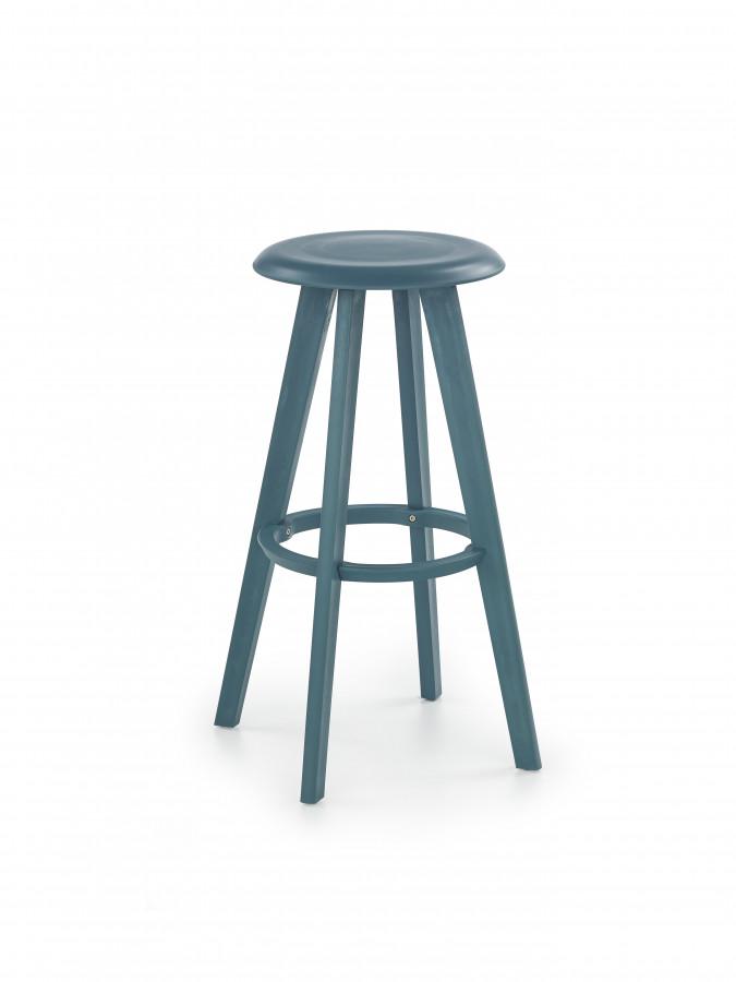 Halmar Barová židle H-77 tyrkysová