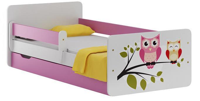 Vomaks Dětská postel OWL 20 + MATRACE - 2418/80
