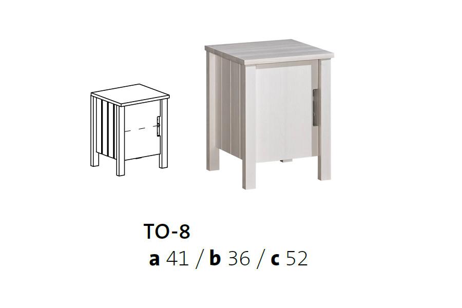 Vomaks Noční stolek TOBI TO-8 - 3984/BAR