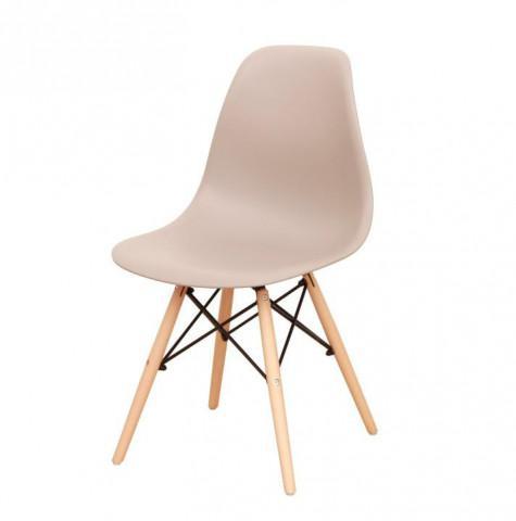 Židle CINKLA 2 NEW - teplá šedá + buk