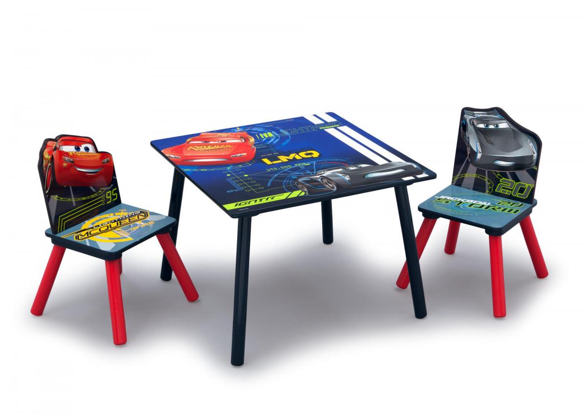 Forclaire Dětský stůl s židlemi Cars