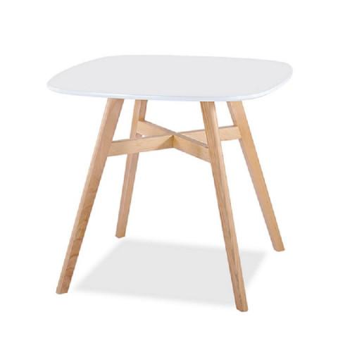Jídelní stůl DEJAN NEW - bílá + přírodní