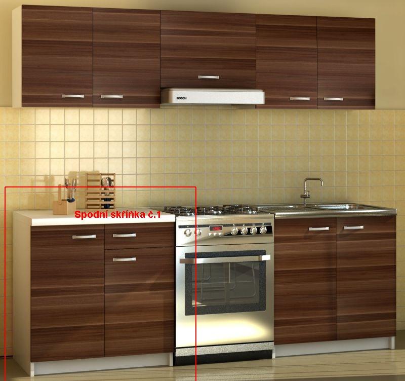 Kuchyňská skříňka Sonia - spodní skříňka š. 80 cm