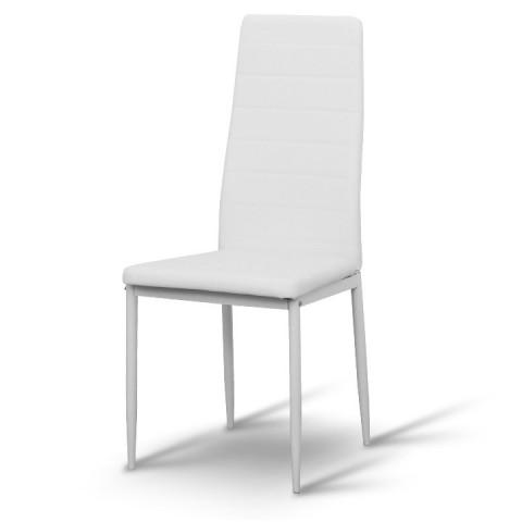 Židle COLETA - bílá ekokůže /bílý kov