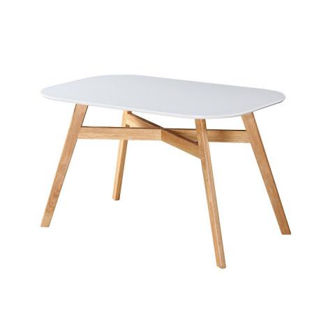 Jídelní stůl CYRUS -bílá / přírodní