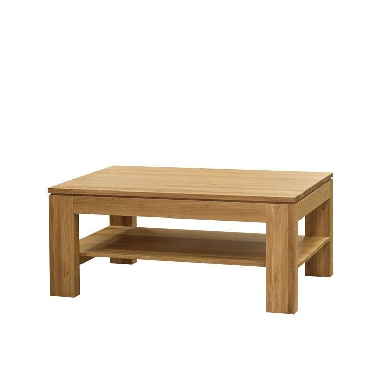 Konferenční stolek DM 016 dub masiv - s poličkou