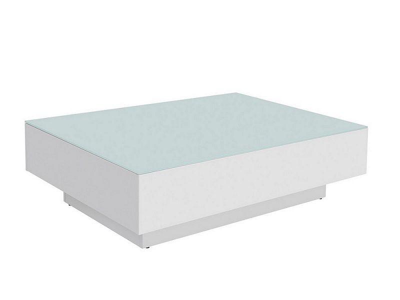 Konferenční stolek Kostka LAW3/11 - bílá/bílá lesk