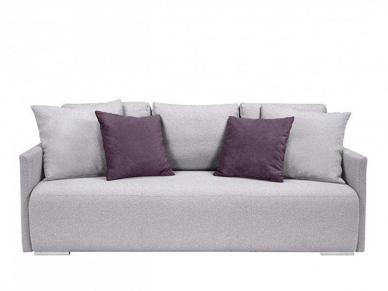 BRW Pohovka Clarc Lux - Amore 45 fialová/Ontario 90 světle šedá