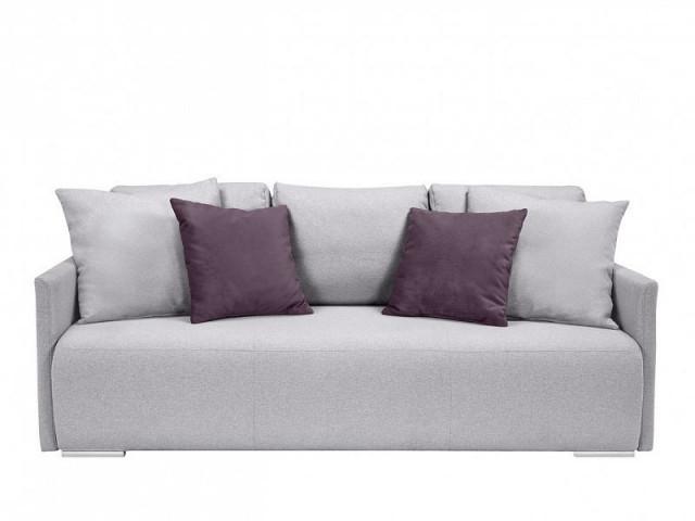 Pohovka Clarc Lux - Amore 45 fialová/Ontario 90 světle šedá