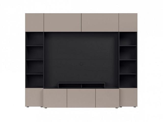 Obývací stěna Muro 240/SYM - černý antracit/šedá congo