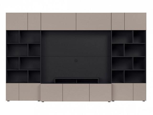 Obývací stěna Muro 320/SYM - černý antracit/šedá congo