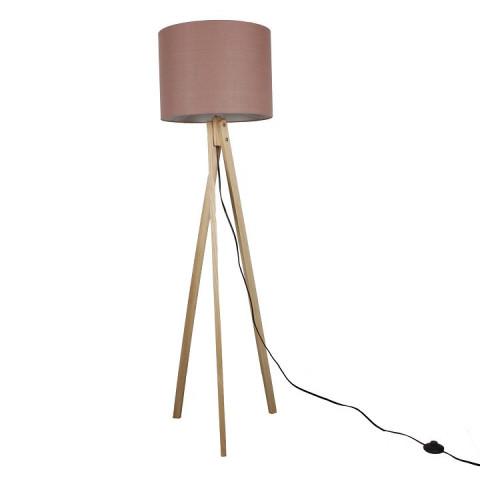 Stojací lampa LILA Typ 8 - hnědá / přírodní dřevo