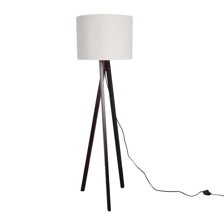 Stojací lampa LILA Typ 9 - bílá / dřevo - II. jakost