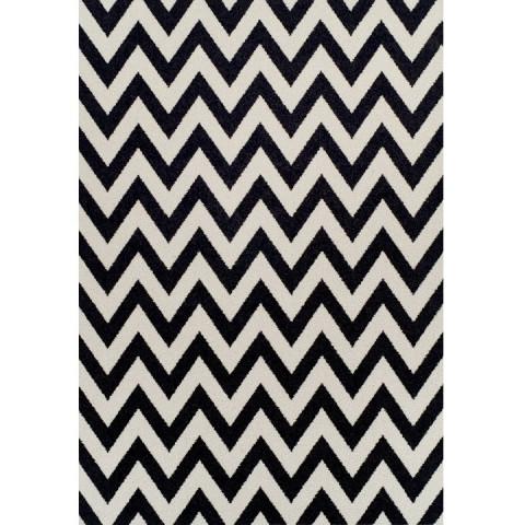 Koberec ADISA 133x190 - slonovinová / tmavě šedá